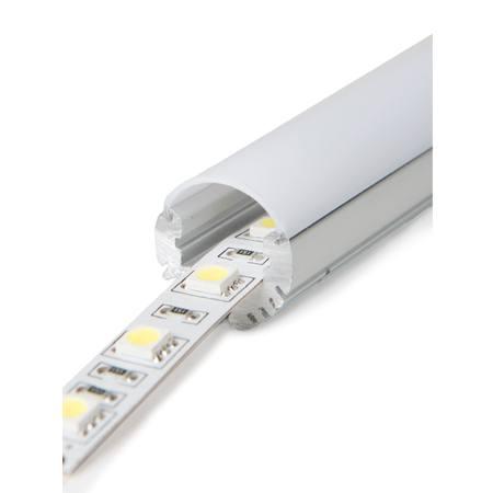 Profilé d'aluminium rond