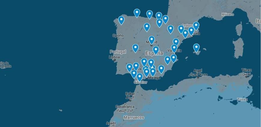 En Google Maps puedes encontrar todos los puntos de soporte del SAT de BSPOOL