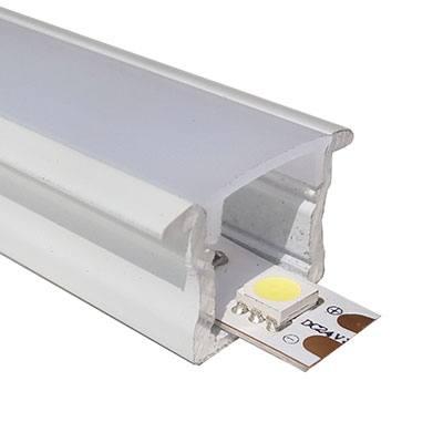 Standard recessed aluminium profile white