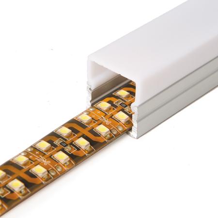 Perfil alumini 16mm quadrat