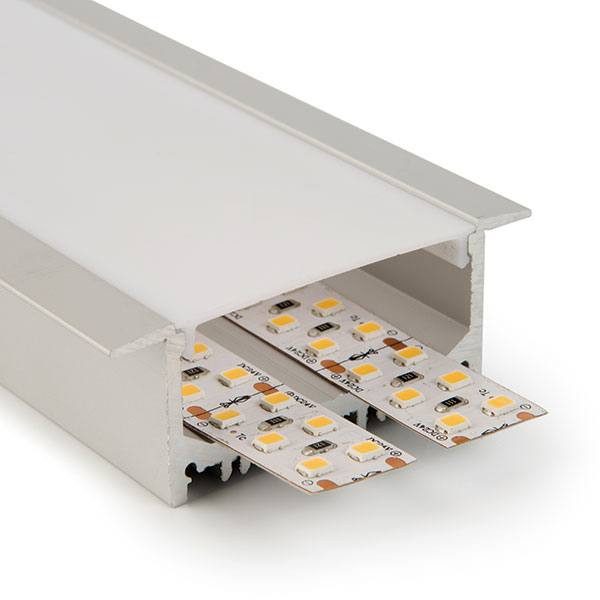 Perfil de aluminio empotrar alta densidad 43,3mm