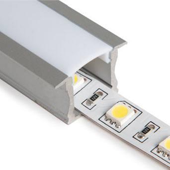Profilé d'aluminium encastrable standard