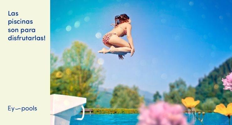 Las piscinas son para disfrutarlas
