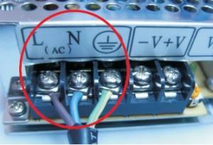 Conexión AC110V-AC220V