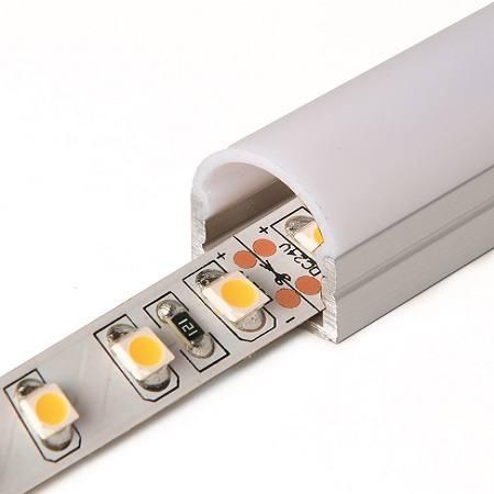 Profilé d'aluminium 16mm rond